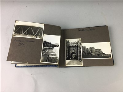 Lot 17-A MID-CENTURY PHOTOGRAPH ALBUM, VINTAGE JIGSAW, CASED CUTLERY AND COINS
