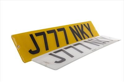 Lot 1715-CELTIC F.C. INTEREST - JINKY JOHNSTONE'S REGISTRATION PLATE 'J777 NKY'