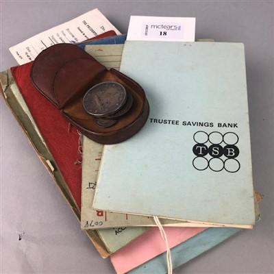 Lot 18-A LOT OF MEDICAL CARDS AND BANK ACCOUNT BOOKS