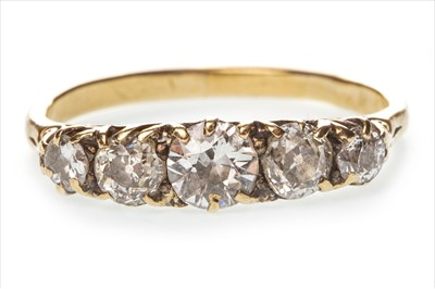 Lot 1315-A VICTORIAN STYLE DIAMOND FIVE STONE RING