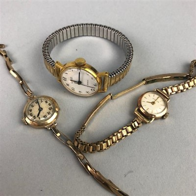 Lot 23-A LOT OF THREE LADY'S WRIST WATCHES