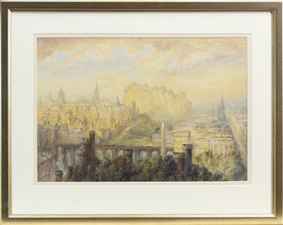 Lot 130-A VIEW OF EDINBURGH, A WATERCOLOUR BY MARY WEATHERILL