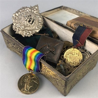 Lot 47-A LOT OF SILVER MEDALLIONS AND MILITARY MEDALS