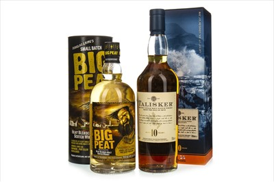 Lot 1317-TALISKER AGED 10 YEARS AND BIG PEAT