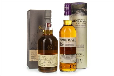 Lot 1318-TOMINTOUL AGED 16 YEARS AND GLENKINCHIE 12 YEARS OLD
