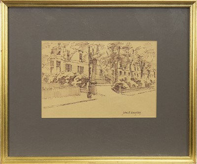 Lot 2-CROWN ROAD NORTH, GLASGOW, AN INK SKETCH BY JOHN KINGSLEY