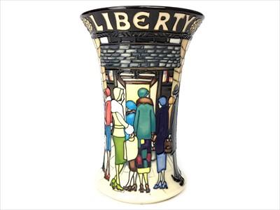 Lot 1245-A MOORCROFT FOR LIBERTY & CO. 'LIBERTY STREET' PATTERN VASE