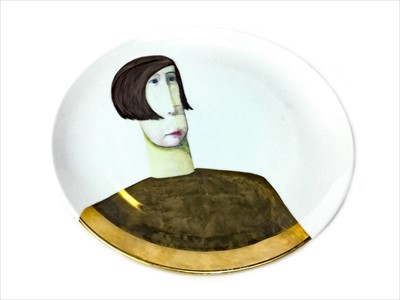 Lot 1247-A CERAMIC PLATE BY WENDY KERSHAW