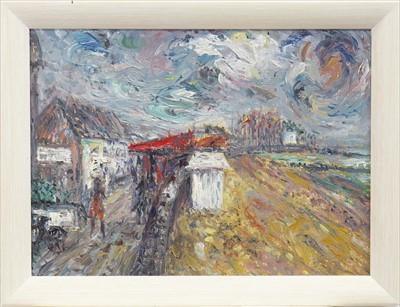 Lot 25-ST ABUIN - SER - MER, AN OIL BY JOSEPH URIE