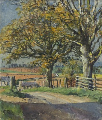 Lot 439-SPRING, SYCAMORE TREES AT CARSE OF GOWRIE, A WATERCOLOUR BY MCINTOSH PATRICK