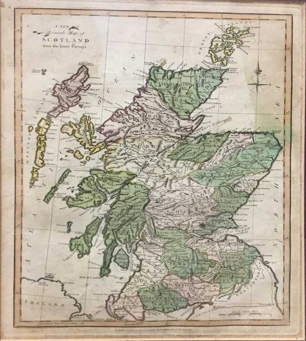 Lot 914-'A NEW AND ACCURATE MAP OF SCOTLAND', AN ENGRAVING BY ROBERT WILKINSON