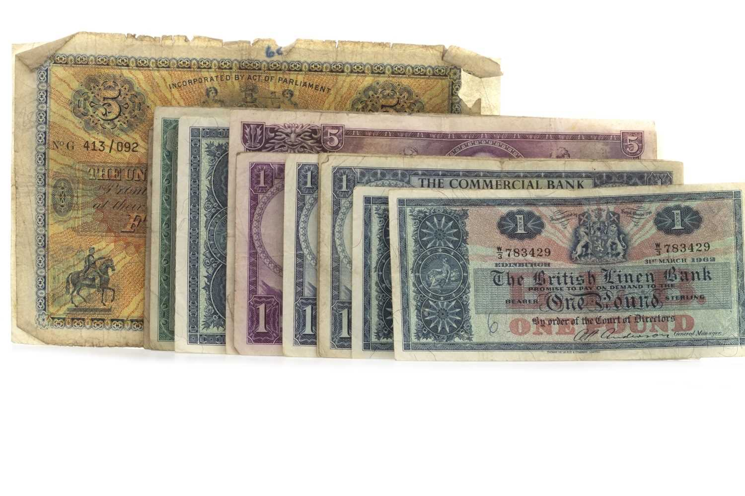 Lot 16-A LOT OF SCOTTISH BANKNOTES