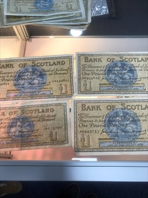 Lot 15-A LOT OF BANK OF SCOTLAND NOTES