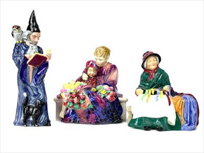 Lot 1249-A LOT OF THREE ROYAL DOULTON FIGURES