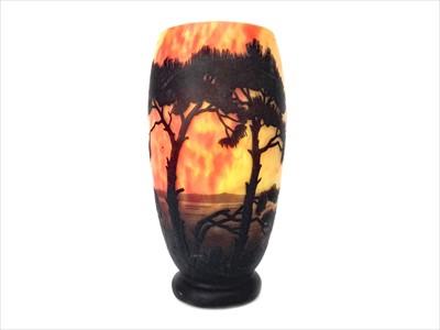Lot 1258-A DAUM NANCY CAMEO GLASS VASE