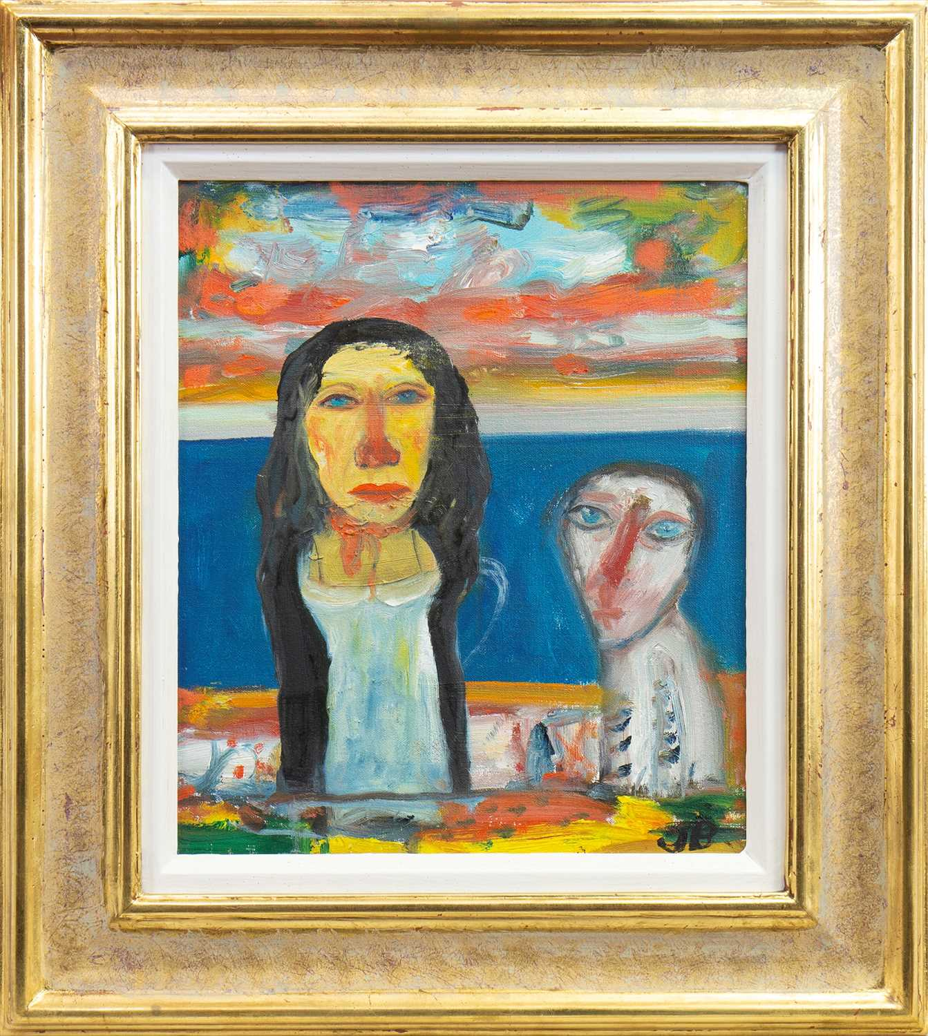 Lot 515-THE SEER, AN OIL BY JOHN BELLANY