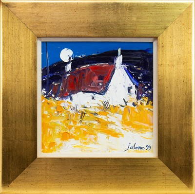 Lot 538-MOON AND RED ROOF ARDNAMURCHAN, AN OIL BY JOLOMO