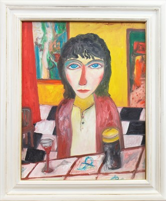 Lot 512-LONE MAIDEN, AN OIL BY JOHN BELLANY