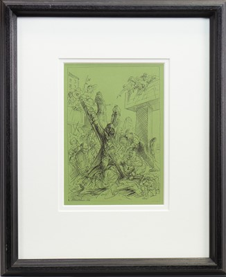 Lot 532-REDEMPTION, A PEN SKETCH BY PETER HOWSON