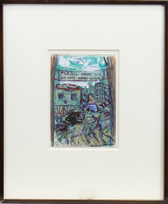 Lot 536-NOVI TRAVNIK, AN OIL PASTEL BY PETER HOWSON