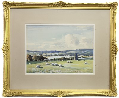 Lot 401-NEAR STEWARTON, A WATERCOLOUR BY TOM CAMPBELL