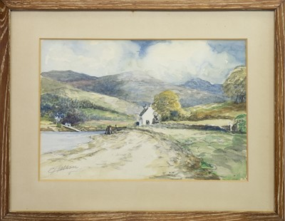 Lot 406-CORRAN FERRY, A WATERCOLOUR
