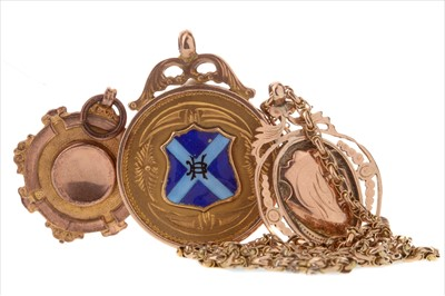 Lot 1720-A LOT OF THREE GOLD BELLAHOUSTON HARRIERS MEDALS
