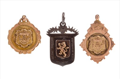 Lot 1721-A LOT OF CROSS COUNTRY RUNNING MEDALS INCLUDING TWO GOLD MEDALS