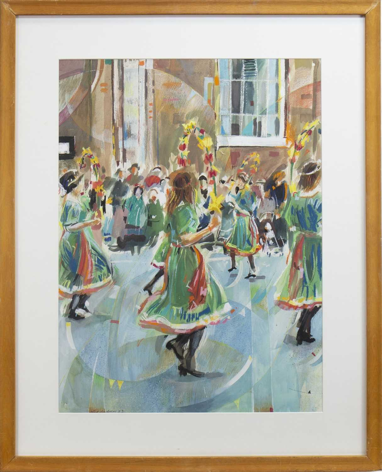 Lot 14-STREET DANCERS, A MIXED MEDIA BY NICK ANDREWS