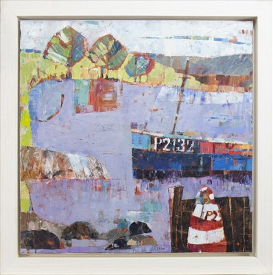 Lot 15-EVENING IN CORNWALL, AN OIL BY SALLY ANNE FITTER