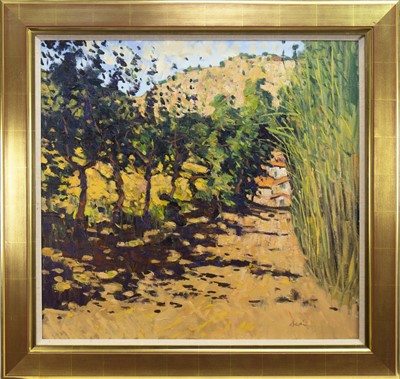 Lot 16-THE ROAD TO CEPS, AN OIL BY GEORGE DEVLIN