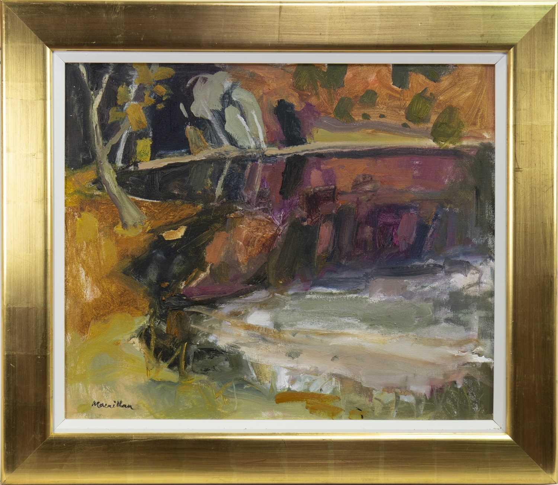 Lot 29-AUTUMN LOCH, AN OIL BY SHEILA MACMILLAN