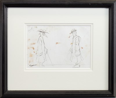 Lot 48-THE CONSULTATION, A PENCIL SKETCH BY FRANK TO