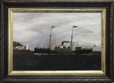 Lot 414-APPROACHING THE SHORE, AN OIL BY A MCLEAN