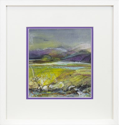 Lot 755 - SUNLIT FIELDS, A MIXED MEDIA BY MAY BYRNE