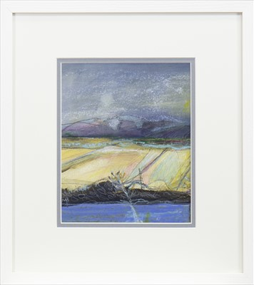 Lot 756 - ULLAPOOL HILLS, A MIXED MEDIA BY MAY BYRNE