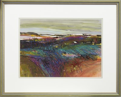 Lot 754 - AUTUMN HILLS, A MIXED MEDIA BY MAY BYRNE