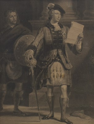 Lot 1609-'PRINCE CHARLES EDWARD READING A DESPATCH FROM SIR JOHN COPE' AN ETCHING BY J. HORSBURGH