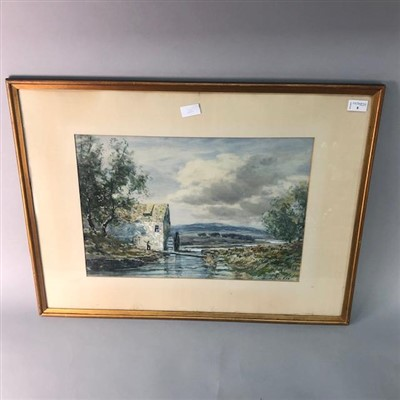 Lot 8-A WATERCOLOUR LANDSCAPE PAINTING BY HAMILTON GLASS