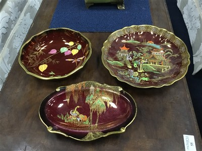 Lot 34-A CARLTON WARE CHINOISERIE CIRCULAR BOWL AND OTHER CARLTON WARE