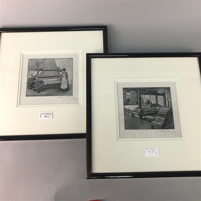 Lot 45-A PAIR OF SIGNED PRINTS BY HARRY G SHIELDS