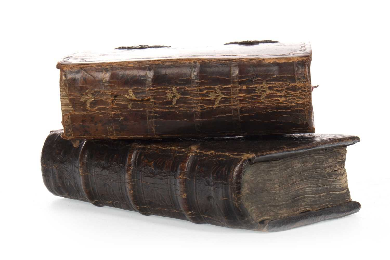 Lot 1618-AN 18TH CENTURY DUTCH BOOK OF DEVOTION AND A 17TH CENTURY BOOK OF PRAYER