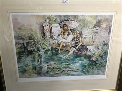 Lot 38-SUMMER DAYS, A LIMITED EDITION PRINT BY GORDON KING