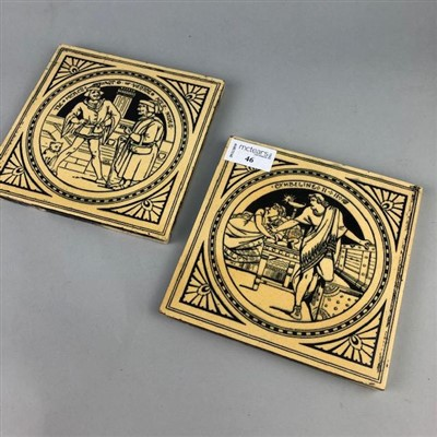 Lot 46-A LOT OF TWO MINTONS SHAKESPEARE TILES