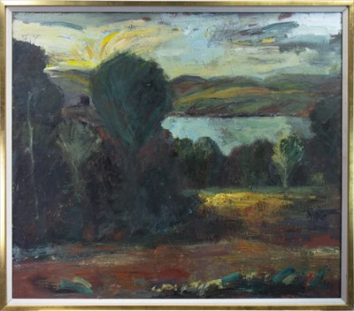Lot 420-LANDSCAPE, AN OIL BY CHRISTIE CAMERON