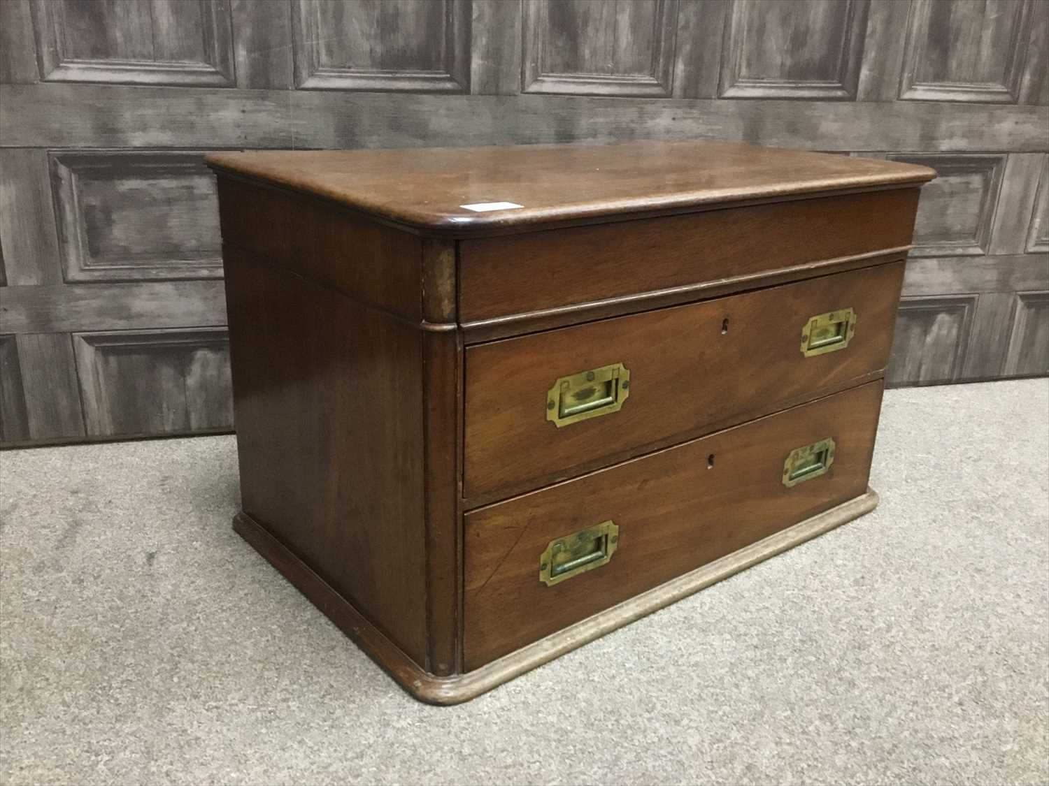 Lot 1619-A VICTORIAN MAHOGANY CHEST OF DRAWERS