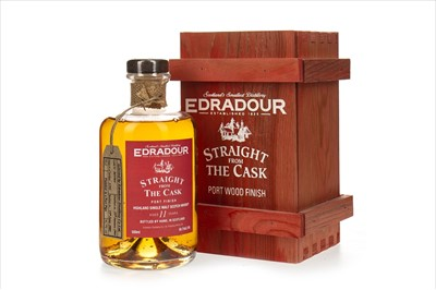 Lot 1095-EDRADOUR STRAIGHT FROM THE CASK PORT FINISH AGED 11 YEARS