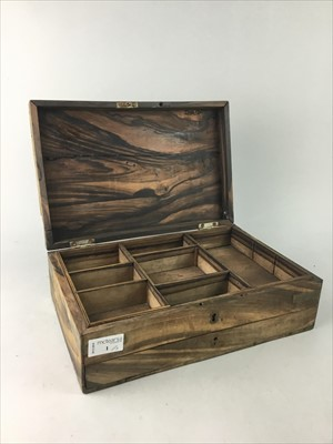 Lot 1-AN EARLY 20TH CENTURY COROMANDEL BOX AND TWO FURTHER BOXES