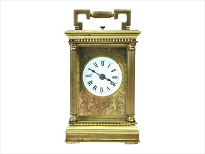 Lot 1105-A BRASS REPEATER CARRIAGE CLOCK BY CHARLES FRODSCHAM
