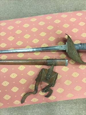 Lot 1639-AN EARLY 20TH CENTURY OFFICER'S DRESS SWORD